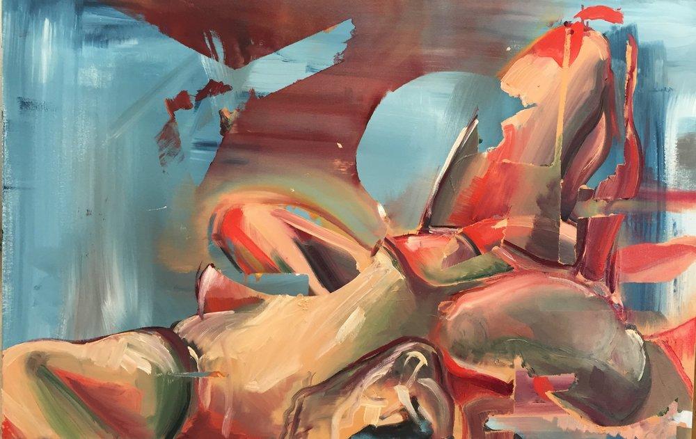 Life Study, oil and acrylic on canvas, 2016