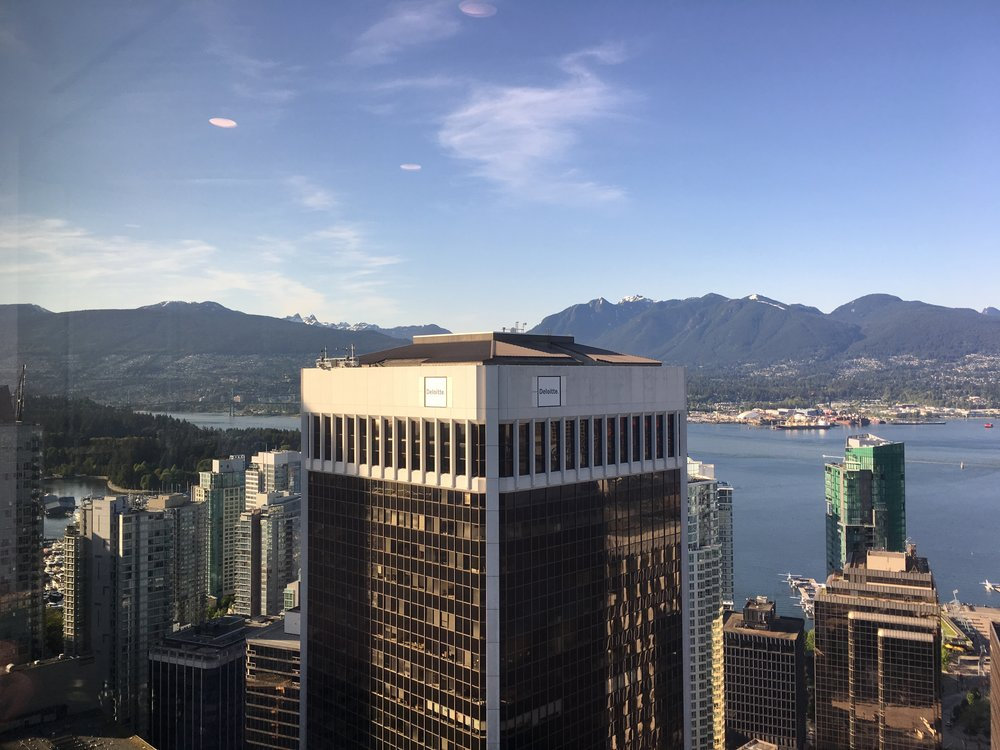 The view from the 36th floor of the RBC tower!
