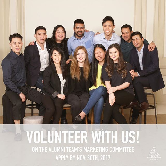 Want to see your work published on the web? The Alumni Executive team reaches over 300 members through our events and social channels and we're hiring volunteers!  We're searching for some rockstar Alumni to help out on the marketing committee so we can get more info out to our members.  We're hiring volunteers for the following roles: / Event Photographer / Social Media Coordinator / Graphic Designer / Copywriter / Content Writer  No experience required but it is an asset. Roles run between Jan 2018 and Aug 2018. Apply today - link in bio!