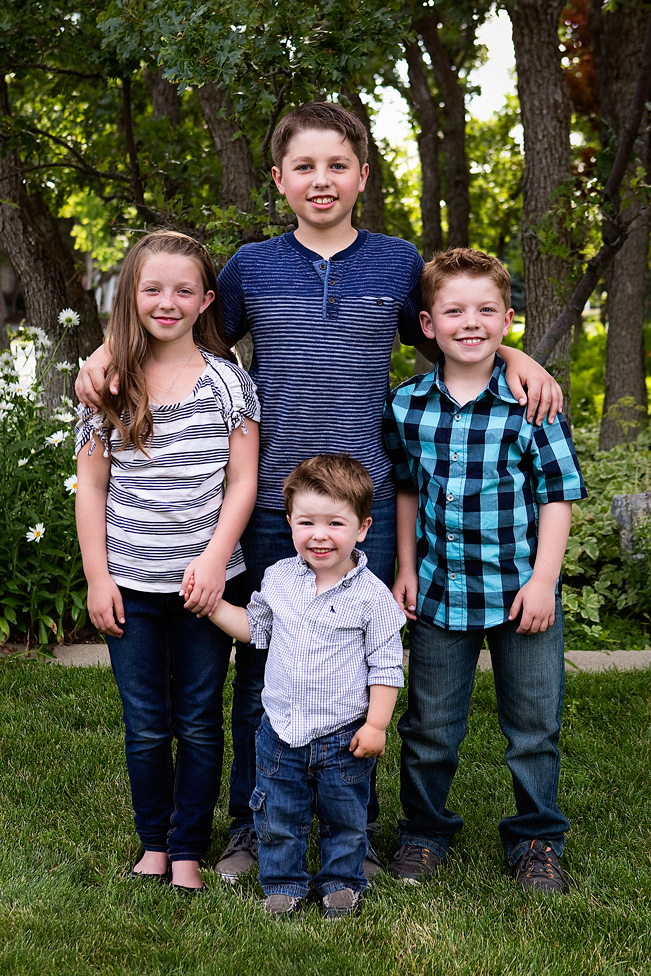 Four kids, Amy Wright Photography, Roseville Family Photographer