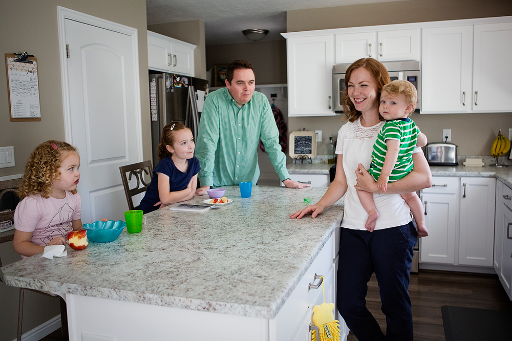 Family at Home, Roseville Lifestyle Photographer
