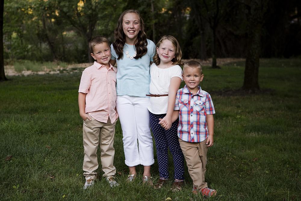 Four Kids, Roseville Family Photographer