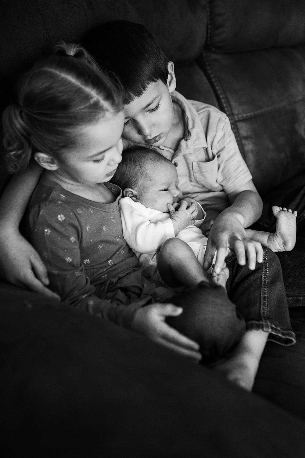 Brother and Sister with Newborn, Amy Wright Photography, Roseville Newborn Photographer