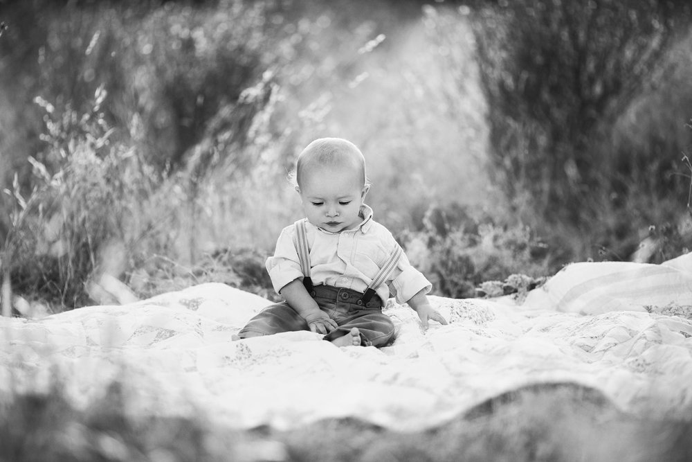 2d47f824d A One Year Old Baby Boy On a Blanket, Amy Wright Photography, Roseville  Photographer