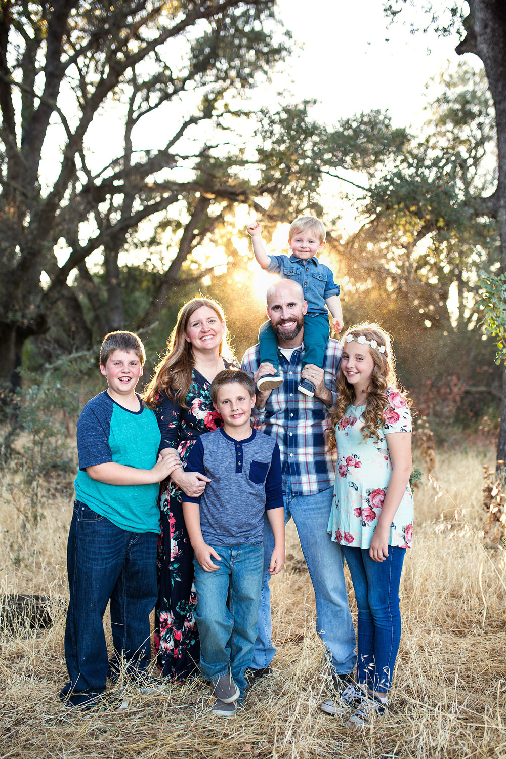 Family of Six, Sacramento Family Photographer, Amy Wright Photography