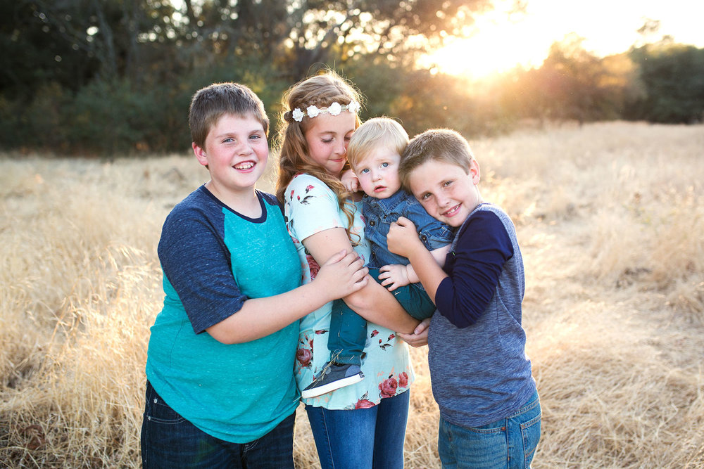 Four Siblings, Sacramento Family Photographer, Amy Wright Photography