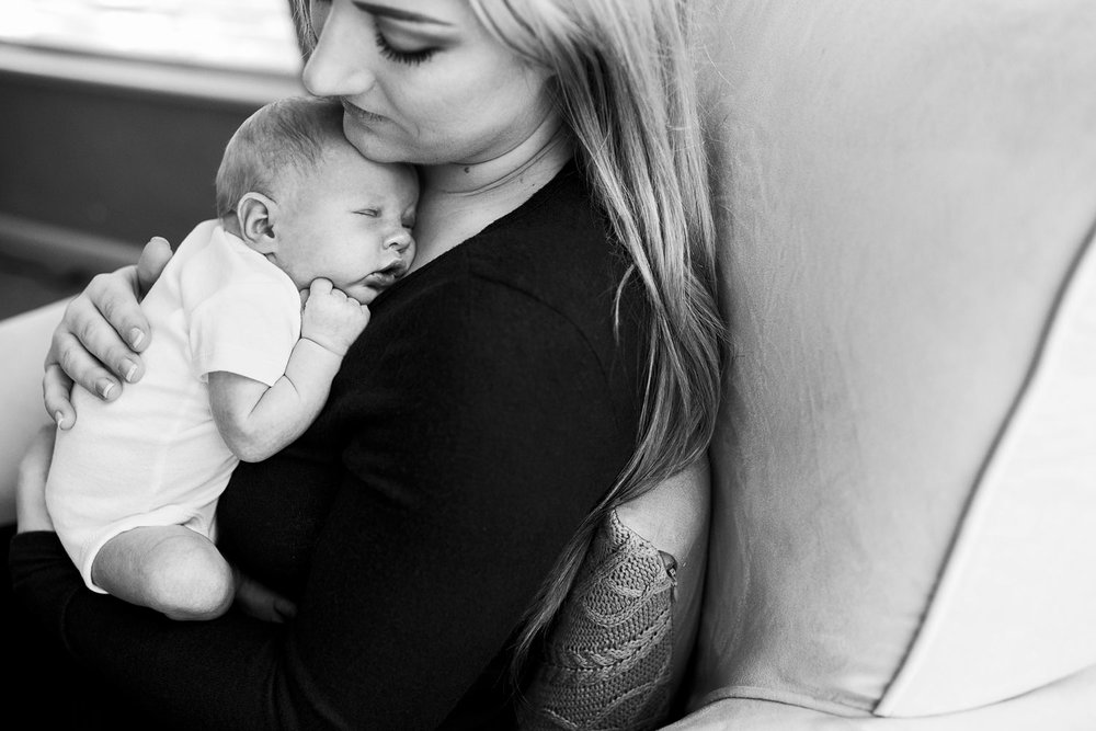 Mother and Baby, Lifestyle Newborn, Roseville California Photographer, Amy Wright Photography