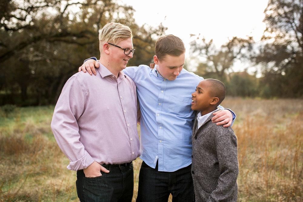 Three Brothers, Family of Five, Amy Wright Photography, Sacramento Family Photographer