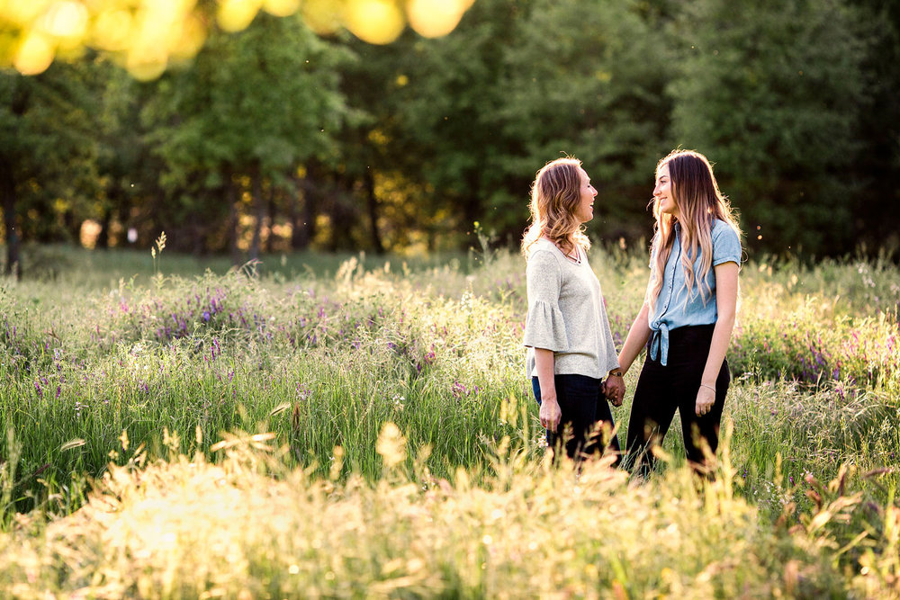 A mother and daughter share a special moment during a photo shoot with Amy Wright Photography in Sacramento, California.