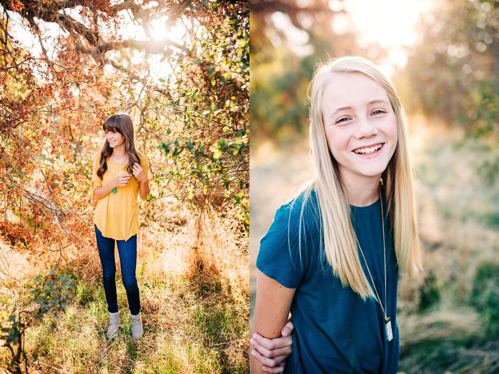 Two sisters have their picture taken during their lifestyle family photo session with Amy Wright Photography in Roseville, California.