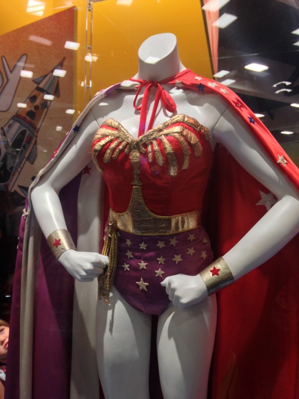 An original telivison Wonder Woman on display at the D.C booth.   Photo by Jessica Lawson