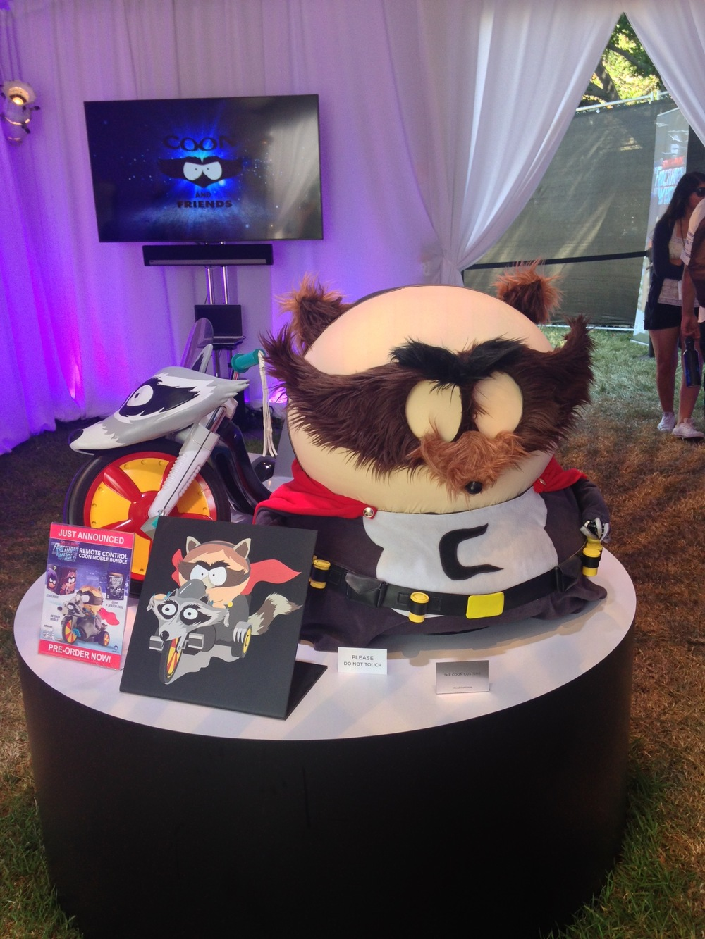 "All kinds of costumes were on display at official booths- even ""Coon and Freinds"" at the South Park experience.   Photo by Jessica Lawson"