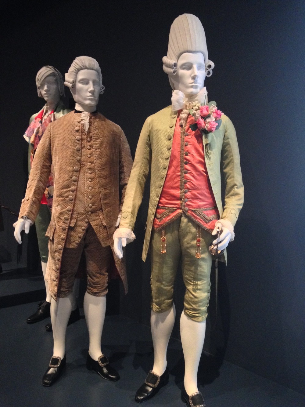 "Front- 1770 ""Macaroni"" suit. England"