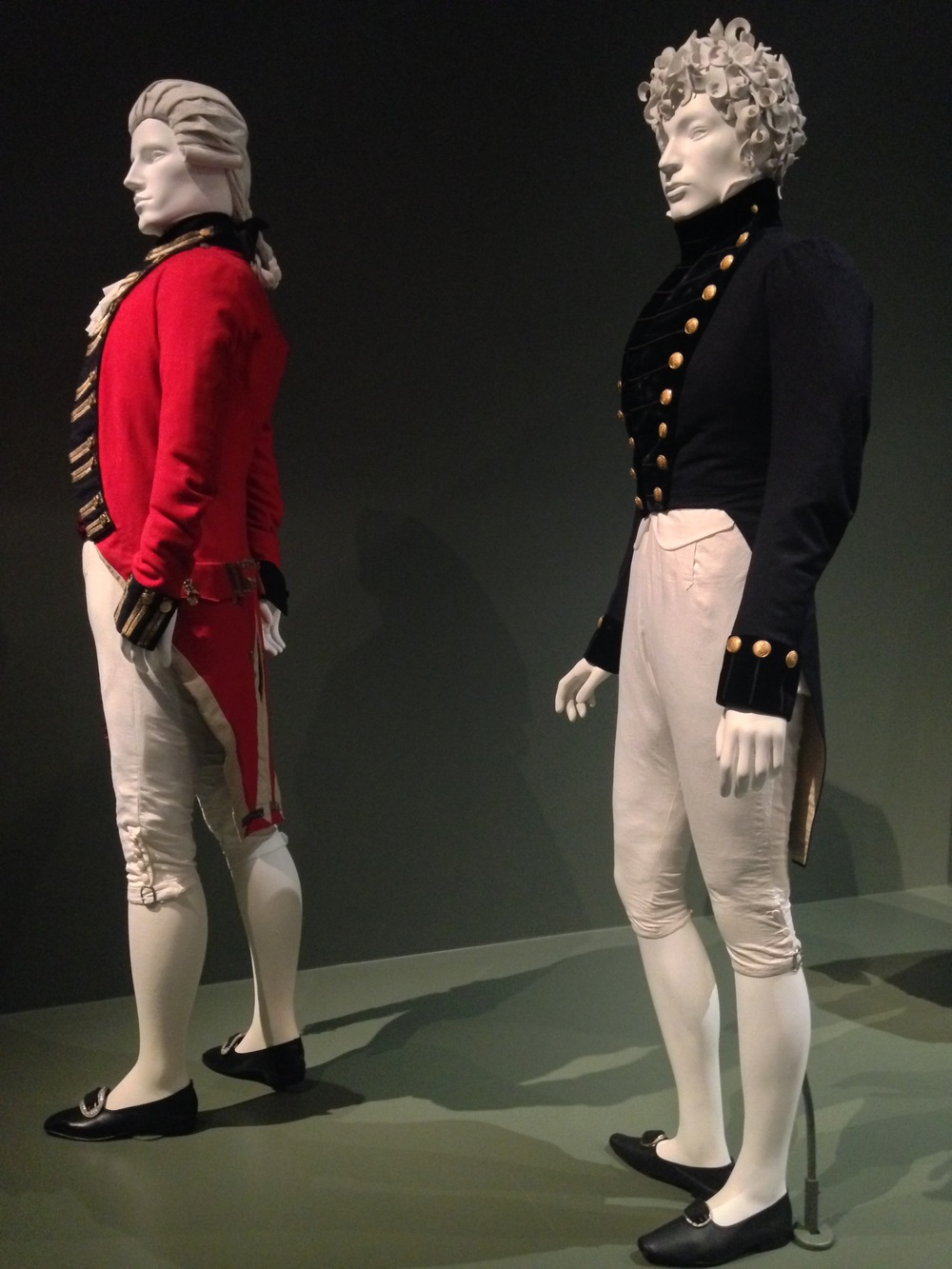 Left to right  Army Uniform ensemble, 1799-1800  Navy Uniform Ensemble, C.1820