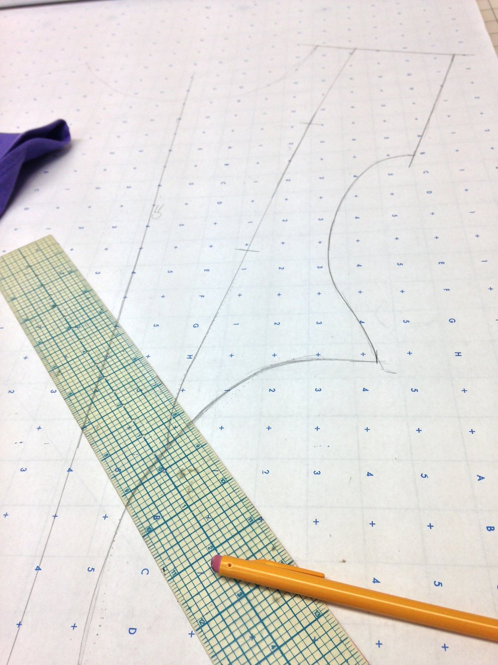 Truing up my pattern trace.