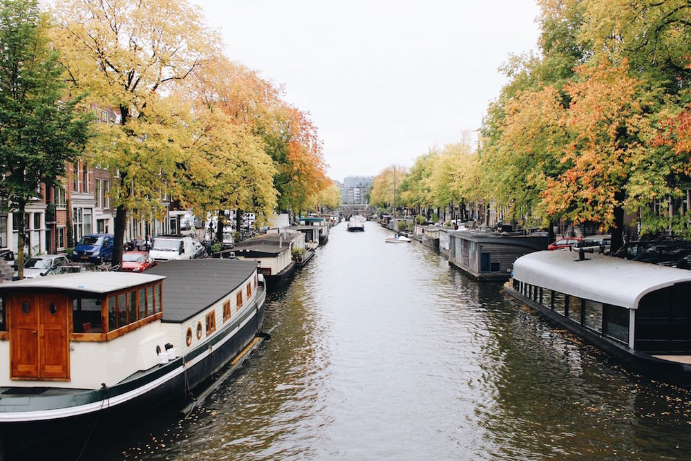 Just one of the many breathtaking canals in Amsterdam.