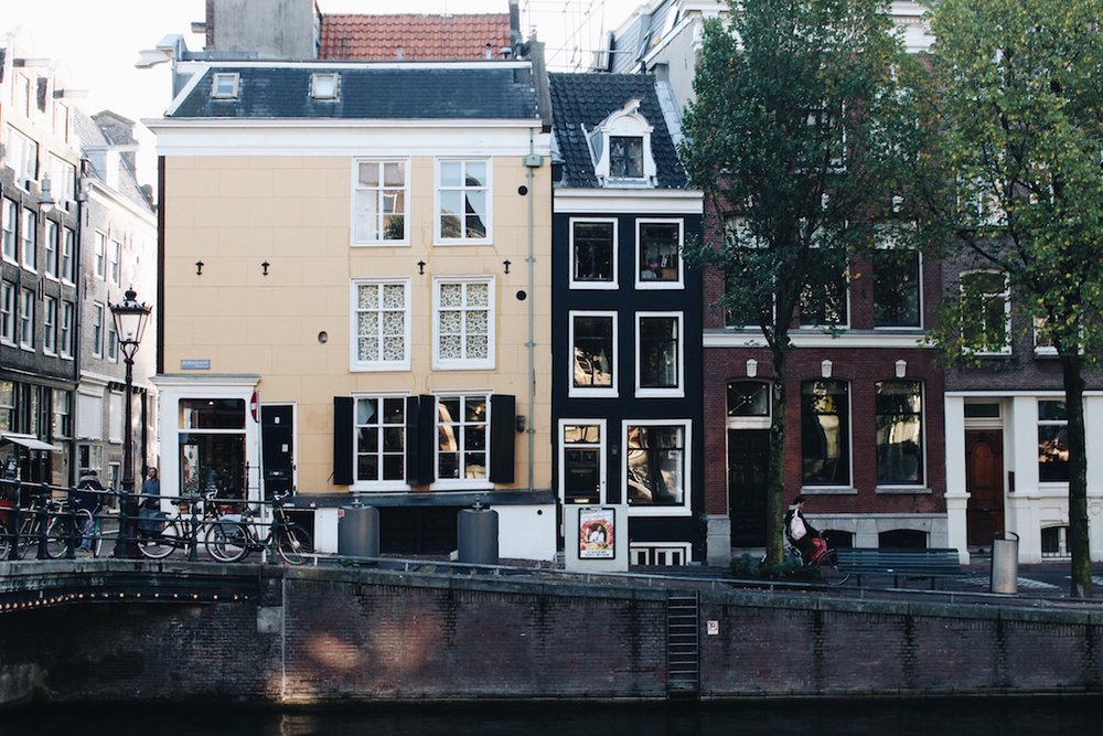 Obsessed with the colorful houses that line the canals!