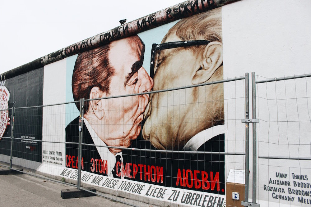 Fraternal Kiss by Dmitri Vrubel at the East Side Gallery