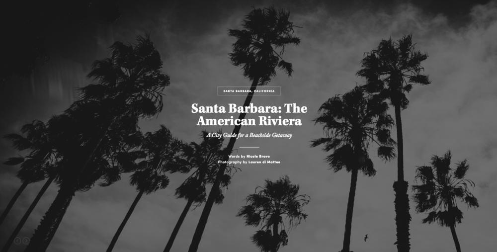 Santa Barbara City Guide // Life & Thyme