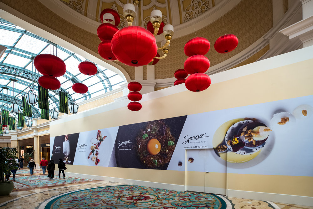 Advertising // Wolfgang Puck's Spago at The Bellagio, Las Vegas, February 2018 // Photo by Byron Mason
