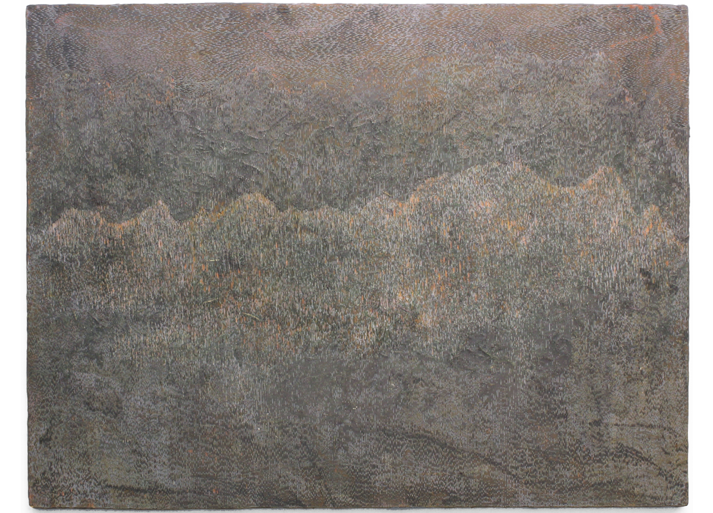 Running Allegheny II, 2015, Acrylic on panel, 54 1/2 x 40 inches