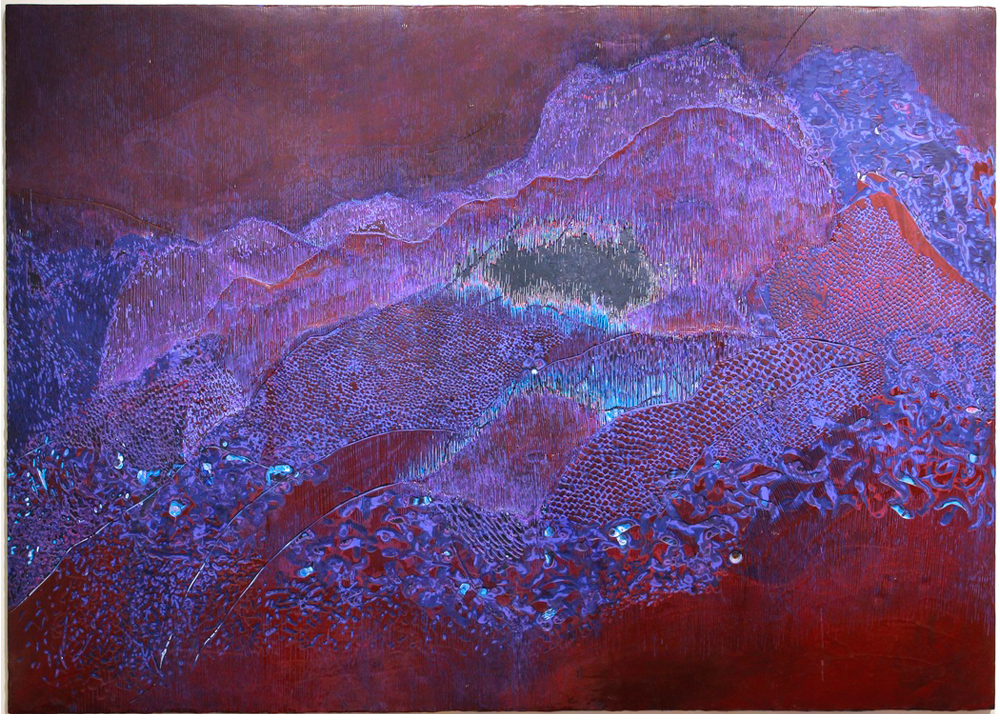 Panther's Cave , 2014, Acrylic on panel, 60 x 80 inches