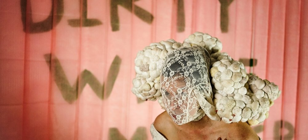 Meg Stein,  Dirty White Matter , 2018. Photo Credit: Derrick Beasley