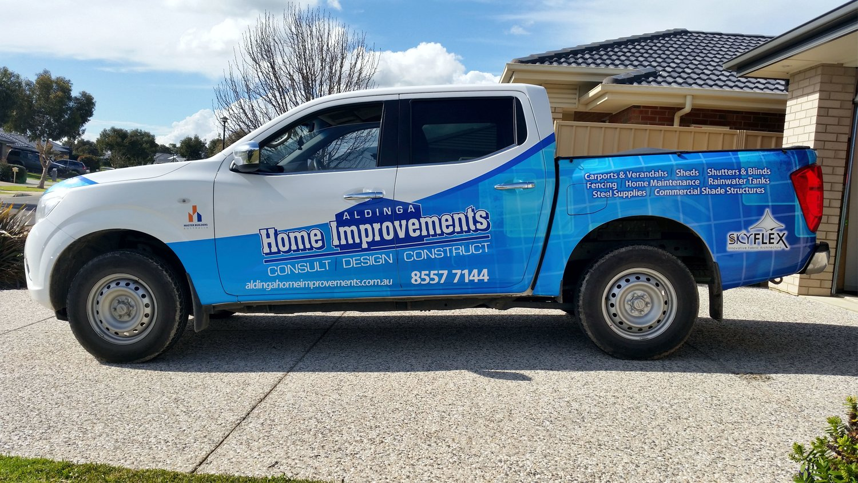 b8a13fe4a11be4 Aldinga Home Improvements - Sign Colour - Aldinga Sign - Aldinga Beach Sign  - Signage Adelaide
