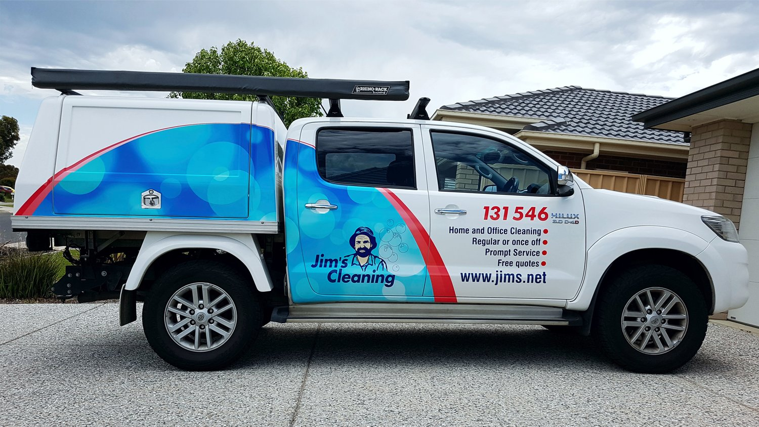 Colour a car - Jims Cleaning Jims Franchise Sign Colour Vehicle Signage Adelaide Vehicle Graphics Adelaide