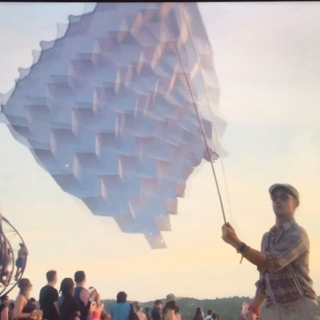 @libfestival 💥who's coming?💥 CATCH MY WORKSHOP ON FRIDAY . ~Folded Paper Sculpture :: Unlocking Geometries Within~ . 11:30-12:30 on Friday in the ArtClave tent . Add it to your schedule! And until then you can watch me here on repeat in last year's promo video 🙈