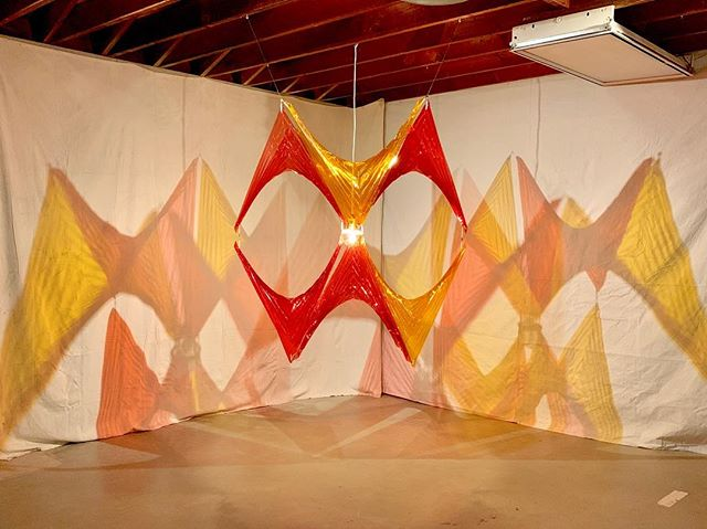 "🌞 DESERT X 🌞- see my installation ""Prismatic Sunset"" part of the Looming Shelter exhibition @makervillestudio in association with @textileartsla. A DESERT X parallel program on view in the mountains above Palm Desert until April 21.  Stay tuned for a hosted workshop on site!"