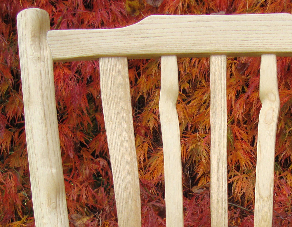 Detail of the chair made with Mike Abbott at Clisset Wood