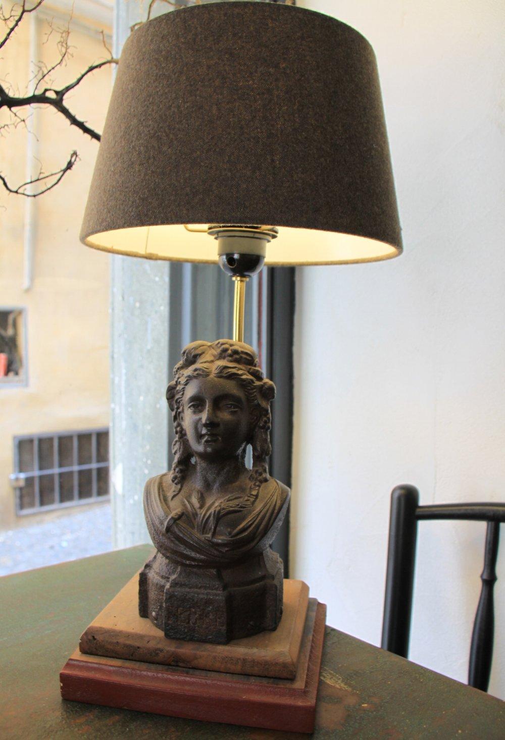 LAMPADA SCULTURA IN BRONZO