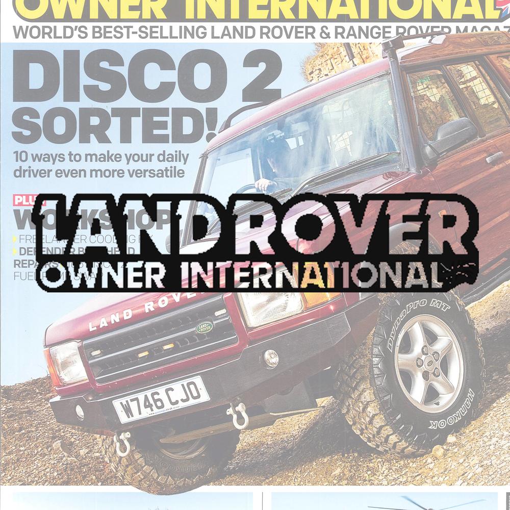 Land Rover Owner magazine This best-selling magazine helps readers to buy, maintain, restore and modify their Land Rovers. Demographic: 62% ABC1 - 96% Male - Av. age 49