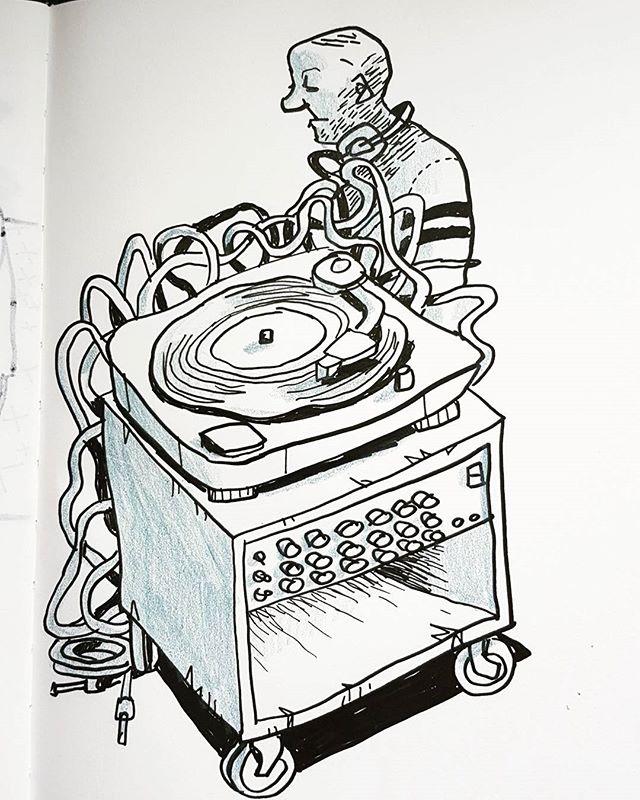 #artwork #artist #creative #urbanart #urbansketch #urbansketchers #sketchbook #myart #sketches #draws #doodle #doodler #doodlers #vinyl #turntable #dj