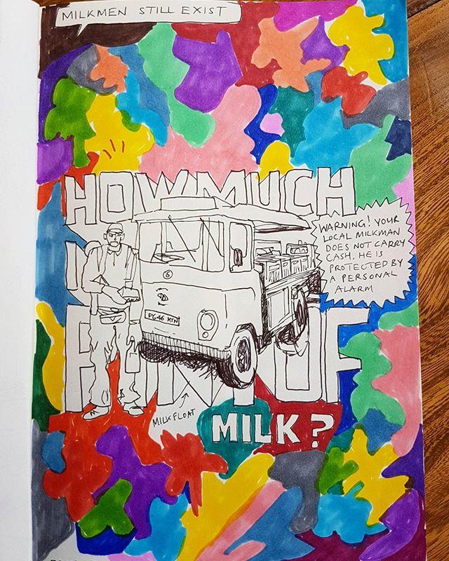 #artwork #artist #creative #urbanart #urbansketch #urbansketchers #sketchbook #myart #sketches #draws #doodle #doodler #milk #milkman