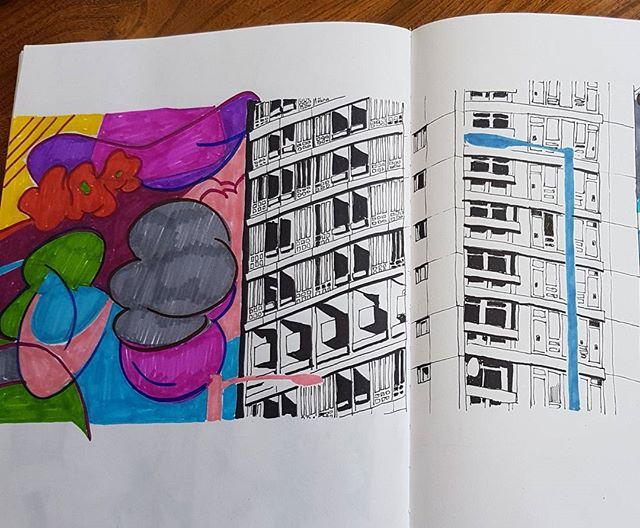 #artwork #artist #creative #urbanart #urbansketch #urbansketchers #sketchbook #myart #sketches #draws #doodle #doodler #brutal #brutalism #brutalist #tower