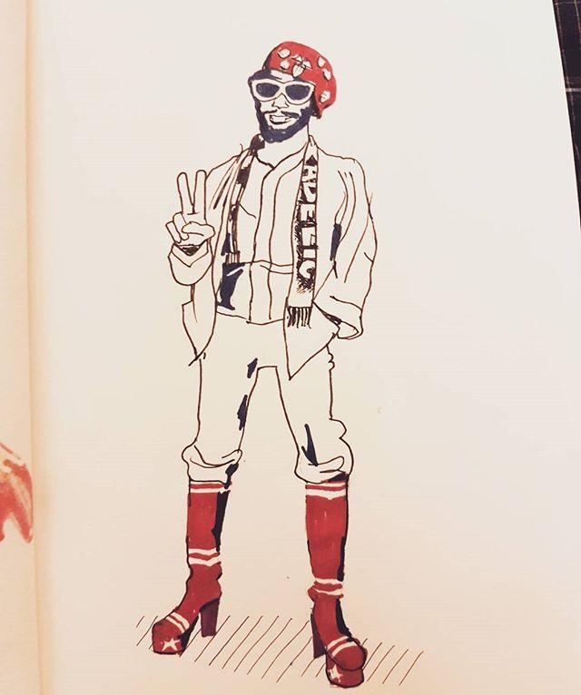 #georgeclinton #georgeclintonandparliamentfunkadelic #parliament #funkadelic #artwork #artist #creative #sketchbook #myart #sketches #draws #doodle #doodler