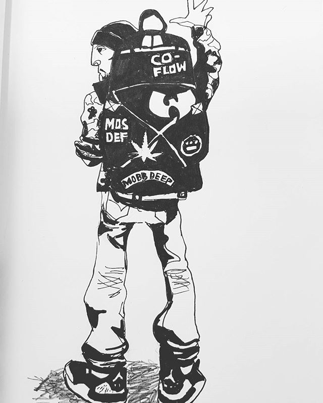 The lesser spotted backpack hip hop fan. Always carries his Company Flow CDs and an MPC for emergency beatmaking. #backpack #backpacker #hiphop #90srap #90shiphop #90shiphopfashion #companyflow #artwork #artist #creative #urbanart #urbansketch #urbansketchers #sketchbook #myart #sketches #draws #doodle #doodler