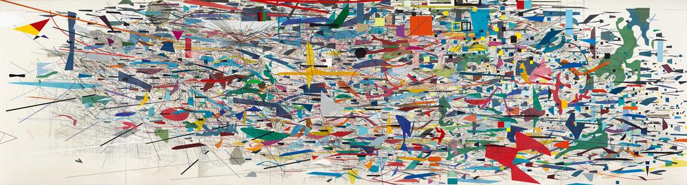 Julie Mehretu's Mural at Goldman Sachs, New York - Full Size