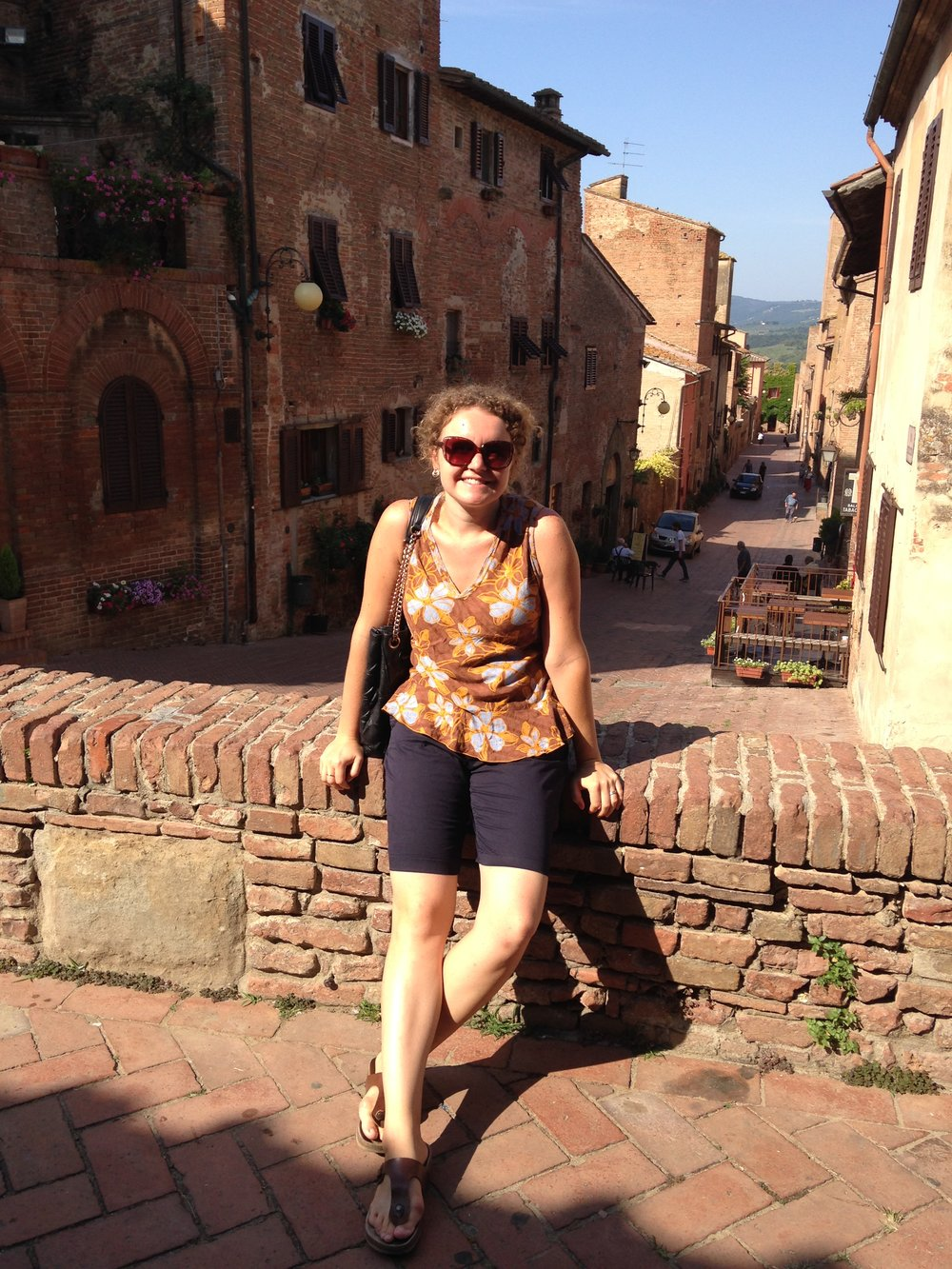 August 10, 2014: My first visit to Boccaccio's hometown of Certaldo, a hilltop town in Tuscany.