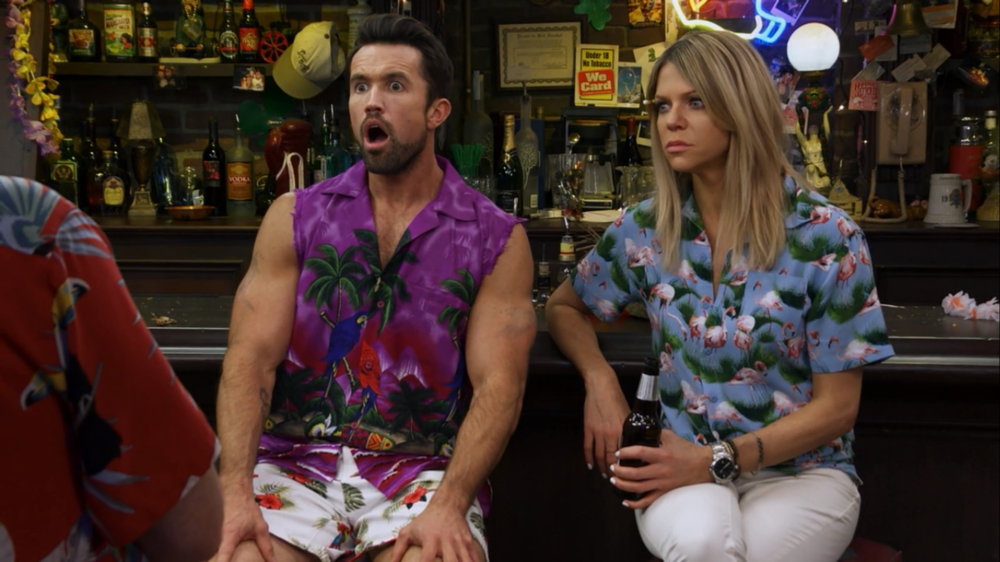 Mac and Dee think they've won a point in the bathroom debate by arguing that minorities deserve to be the ones to use the good bathroom until Dennis and Frank unearth the statistic that in their particular part of Philadelphia, white men are actually in the minority. Meanwhile, Mac's biceps are distracting.