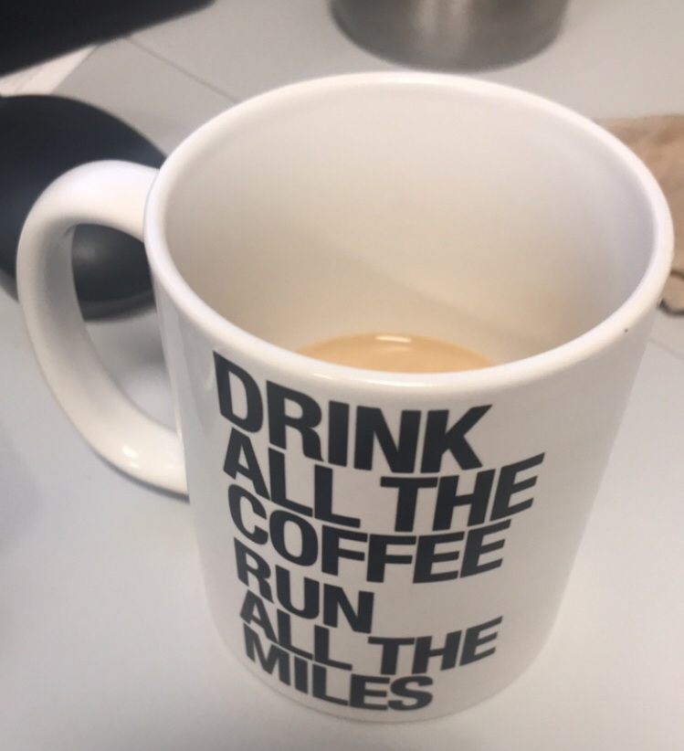 A precious mug from a precious friend, proudly displaying words I live by every day.