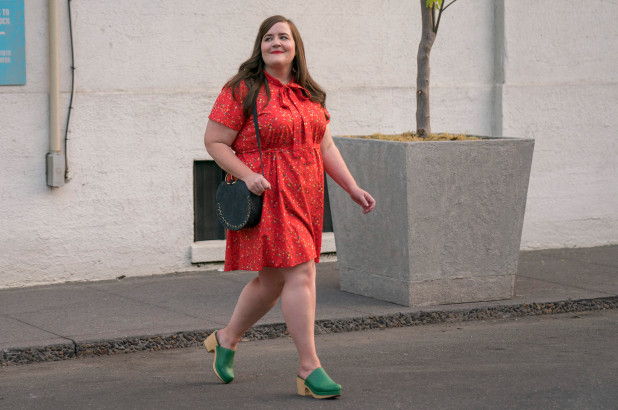 Annie (Aidy Bryant) wears red when she's feeling herself, and  Shrill  gives us reason to hope that there is more where this came from.