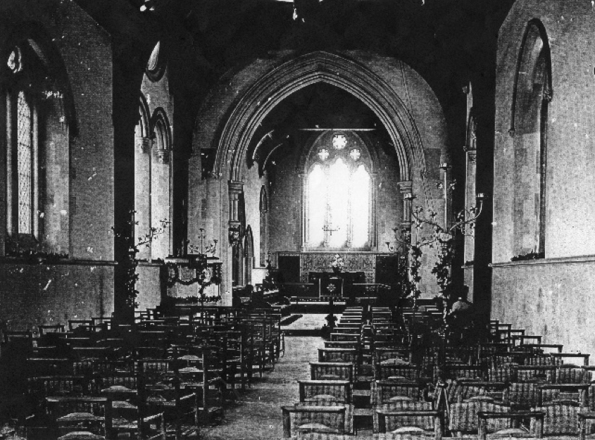 Busbridge Church 1894 - 99 (Busbridge Church Archive). © Busbridge and Hambledon Church
