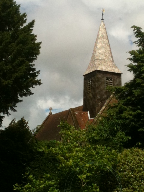 Busbridge Church from Rectory Garden 1.JPG