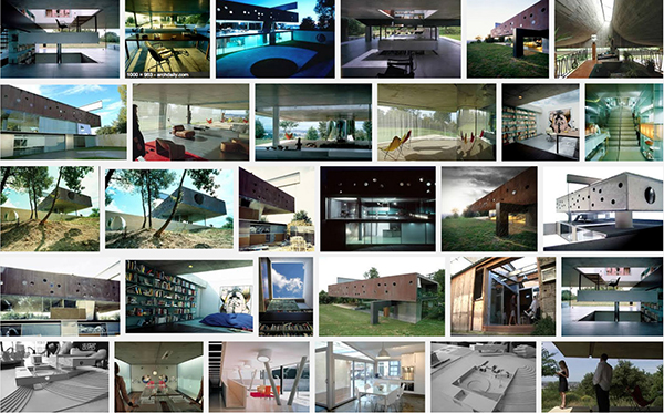 "Snapshot of a ""photo-collage"" created by a Google ""image search"" for the criteria: ""Maison à Bordeaux photograph"", on the 16th of June 2015."