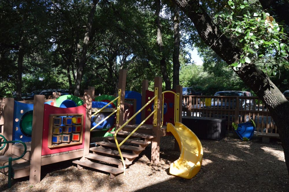 Playground at Butterfly Christian Preschool.