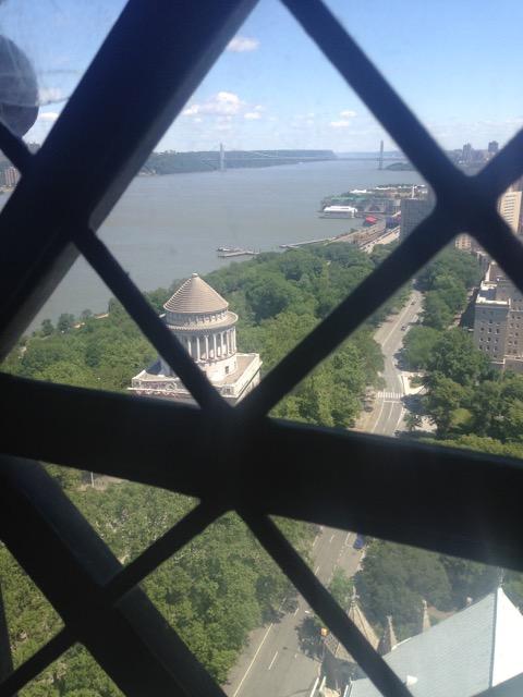 Hudson River from the upper floors of historic Riverside Baptist Church.