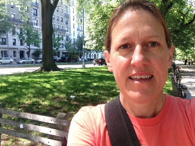 Outside on the Upper West Side, Rev. Carmen Retzlaff.